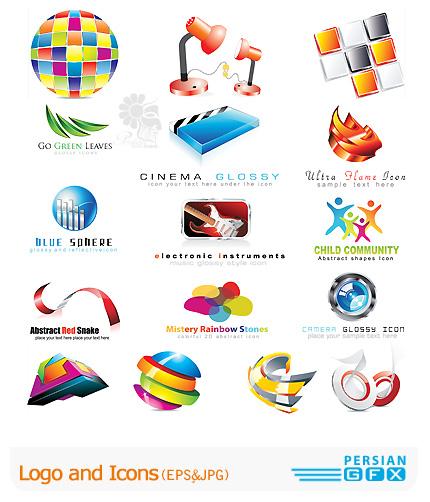دانلود لوگو و آیکون وکتور فانتزی، رنگی، مدرن -Logo and Icons