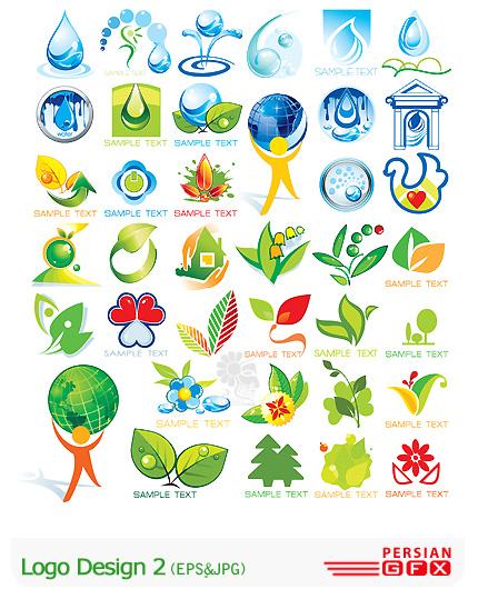 دانلود لوگو وکتور طراحی طبیعت، قطره آب شماره دو - Logo Design 02