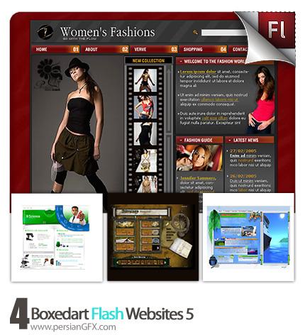 دانلود نمونه آماده وب سایت فلش ستاره شناسی،پزشکی، مد لباس - Boxedart Flash Websites 05