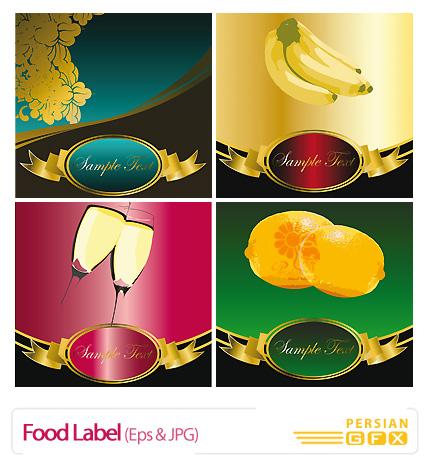 دانلود وکتور برچسب مواد غذایی، لیبل - Food Label