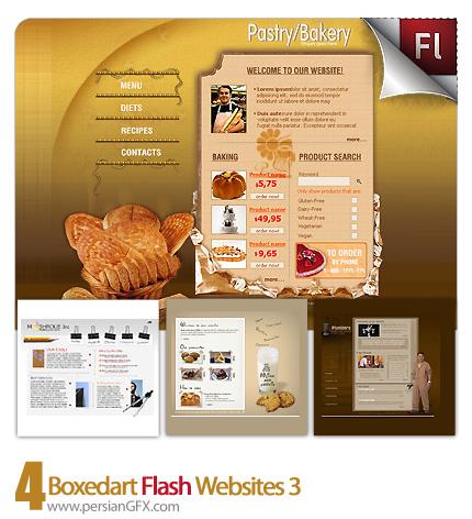 دانلود نمونه آماده وب سایت فلش مهندسی، شیرینی پزی، تعمیرات صنعتی - Boxedart Flash Websites 03