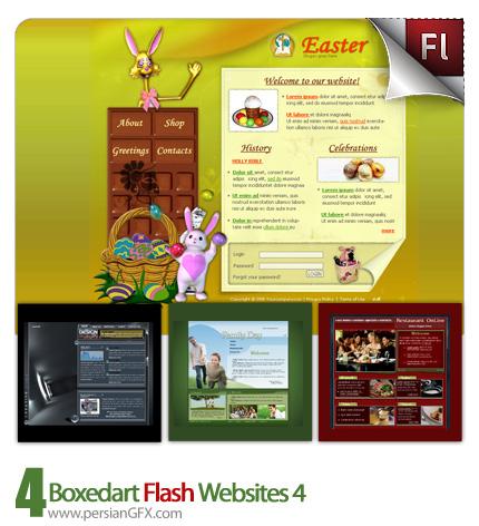 دانلود نمونه آماده وب سایت فلش دیزاین، تفریحگاه، رستوران - Boxedart Flash Websites 04