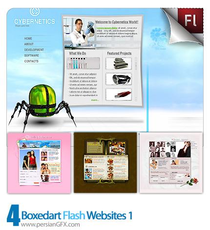 دانلود نمونه آماده وب سایت فلش پزشکی، دوست یابی، گاری عکس، رمانتیک - Boxedart Flash Websites 01