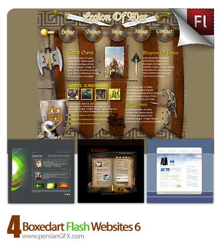 دانلود نمونه آماده وب سایت فلش تجاری، بازی های رایانه ای، ادبی، پزشکی - Boxedart Flash Websites 06