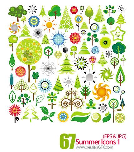 دانلود آیکون های وکتور تابستان - Summer Icons 01