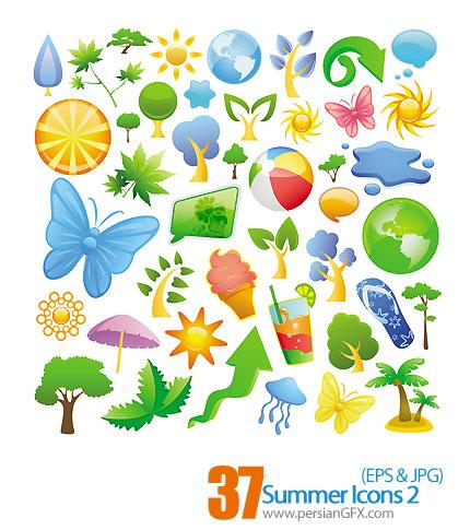 دانلود آیکون های وکتور تابستان - Summer Icons 02