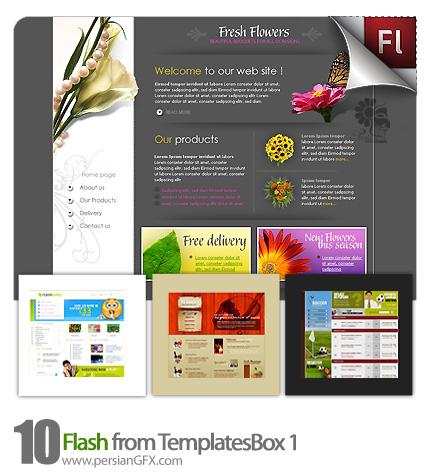 دانلود نمونه آماده وب سایت فلش منوی غذا، ورزشی، گل فروشی - Flash from TemplatesBox 01