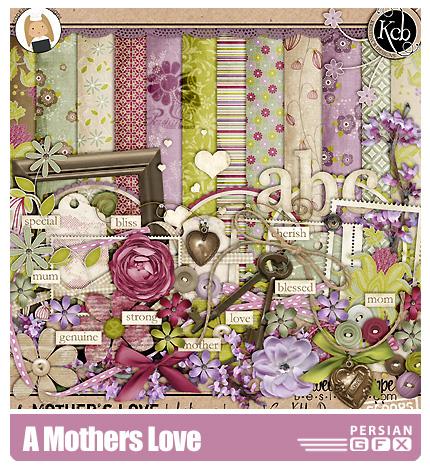دانلود کلیپ آرت عشق به مادران، تزیینی، حروف، براش، بافت - A Mothers Love