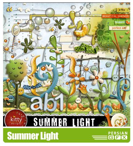 دانلود کلیپ آرت تابستان، تزیینی، حروف، بافت - Summer Light