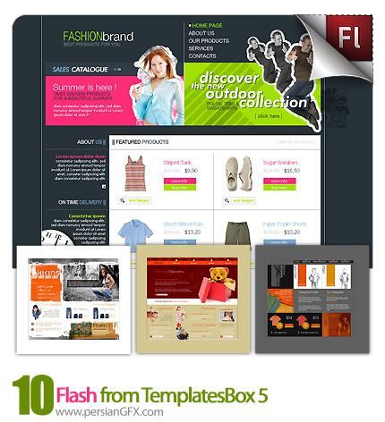 دانلود نمونه آماده وب سایت فلش ساختمان مهندسی، ورزشی، گل فروشی، فروشگاه - Flash from TemplatesBox 05