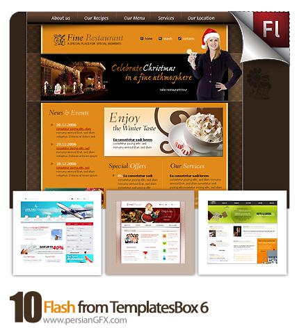 دانلود نمونه آماده وب سایت فلش تجارت، ورزشی، هواپیمایی،گردش گری،غواصی - Flash from TemplatesBox 06