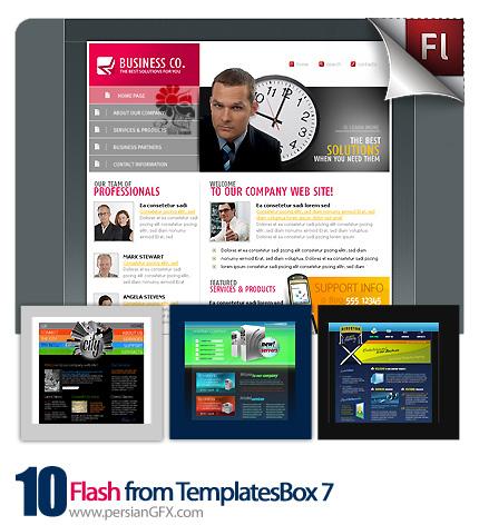 دانلود نمونه آماده وب سایت فلش بیزینس، مواد غذایی، گردش گری - Flash from TemplatesBox 07