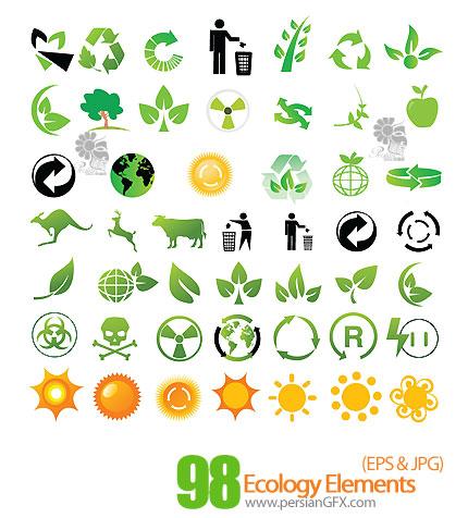 دانلود آیکون های جذاب و زیبای محیط زیست - Ecology Elements