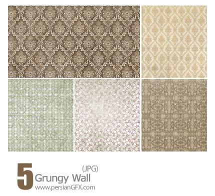 دانلود بافت بافت کاغذ دیواری، بافت کثیف، بافت گل دار - Grungy Wall