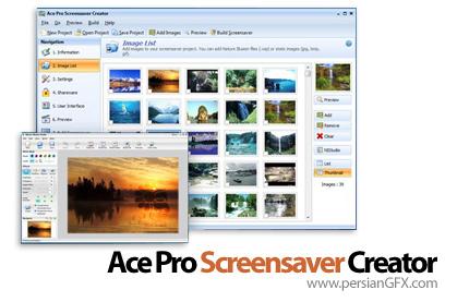 نرم افزار ساخت اسکرین سیور Nufsoft Ace Pro Screensaver Creator 3.90.31.25