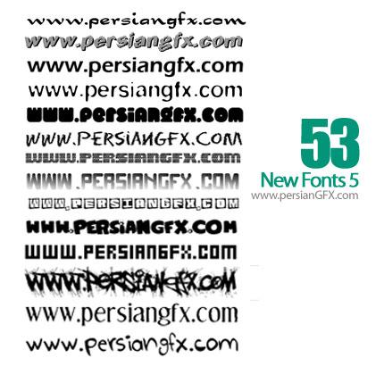 دانلود پنجاه و سه فونت انگلیسی جدید شماره پنج - New Fonts 05