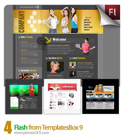 دانلود نمونه آماده وب سایت فلش موسیقی، هتل، خانه - Flash from TemplatesBox 09