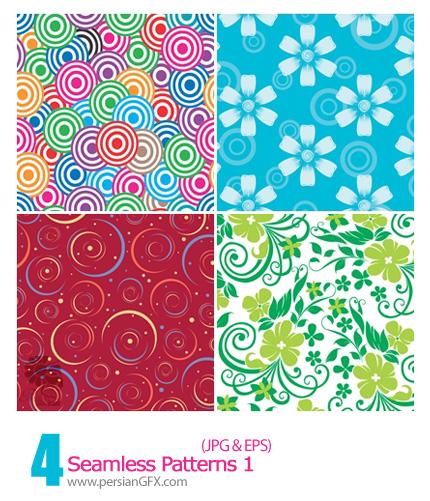 دانلود پترن گل دار - Seamless Patterns 01