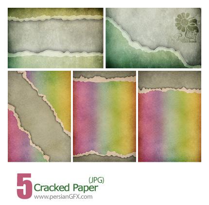 دانلود بافت کاغذ دیواری رنگی - Cracked Paper
