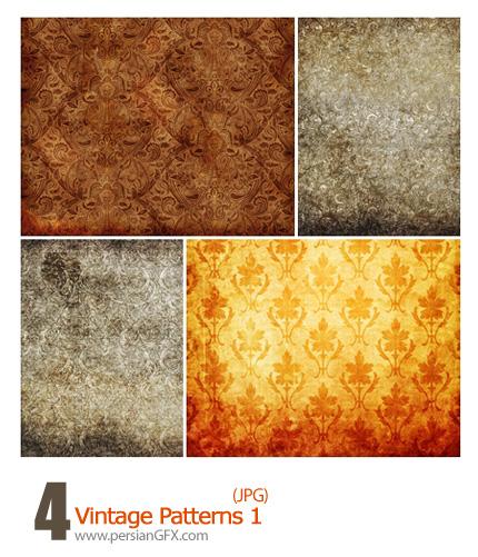 دانلود پترن های کثیف گل دار - Vintage Patterns 01
