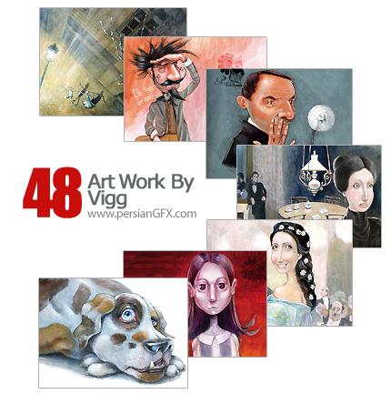 دانلود مجموعه آثار هنری، نقاشی - Art Work By Vigg