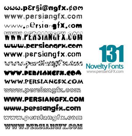 دانلود صد و سی و یک فونت انگلیسی جدید - Novelty Fonts