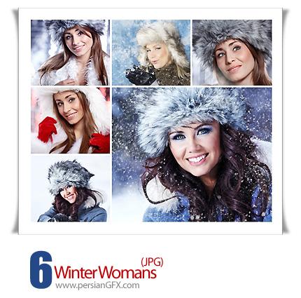 دانلود تصاویر زن، زمستان - Winter Womans