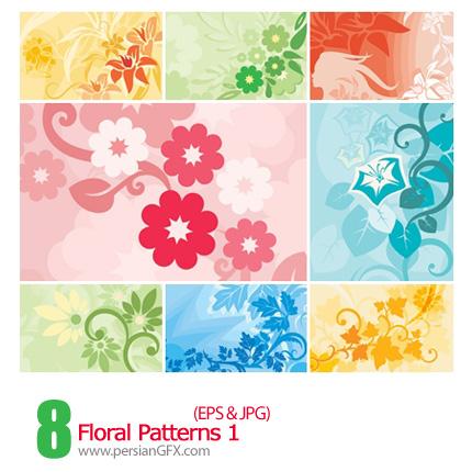 دانلود پترن های گل دار - Floral Patterns 01