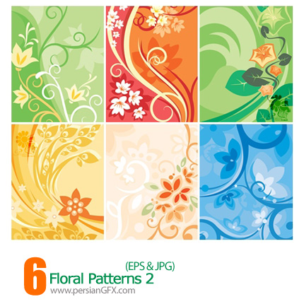 دانلود پترن های گل دار - Floral Patterns 02