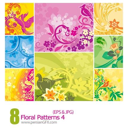 دانلود پترن های گل دار - Floral Patterns 04