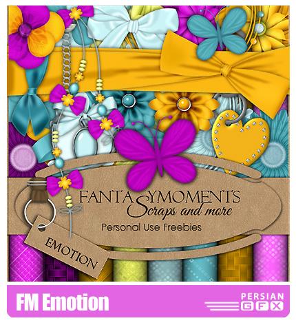 دانلود کلیپ آرت  تزیئنی، بافت، عناصر طراحی - FM Emotion