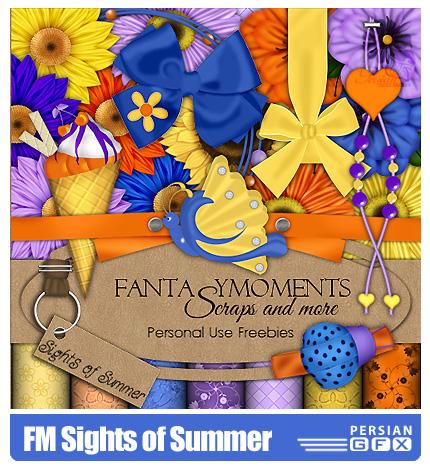دانلود کلیپ آرت منظره تابستانی، بافت - FM Sights of Summer