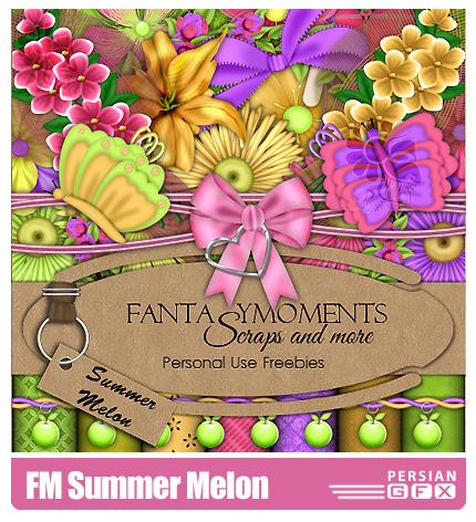 دانلود کلیپ آرت تزیئنی، تابستان، بافت - FM Summer Melon