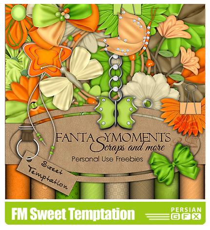 دانلود کلیپ آرت تزیئنی،گل، بافت، فرم - FM Sweet Temptation