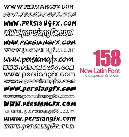دانلود صد و پنجاه وهشت فونت جدید لاتین - New Latin Font