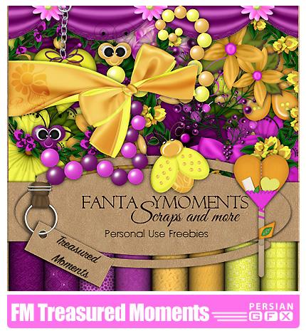 دانلود کلیپ آرت تزیینی،عناصر طراحی، بافت، گل - FM Treasured Moments
