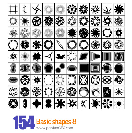 دانلود اشکال متنوع شماره هشت 154 - Basic Shapes 08