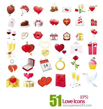 دانلود آیکون های رمانتیک - Love Icons