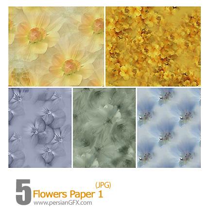 دانلود پترن های گل های کاغذی - Flowers Paper 01