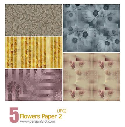دانلود پترن های کاغذی گل دار - Flowers Paper 02