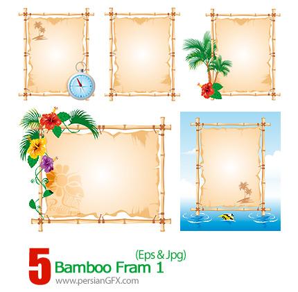 دانلود فرم خیزران، سبز رنگ - 01 Bamboo Fram