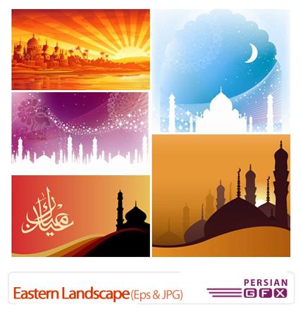 دانلود وکتور مسجد - Eastern Landscape