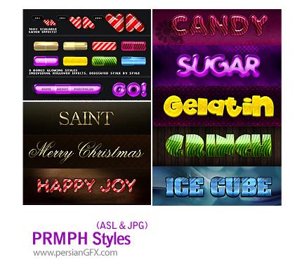 دانلود استایل های افکت متن جذاب و متنوع - PRMPH Styles