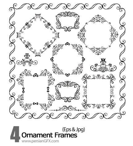 دانلود فریم وکتور تزیینی - Ornament Frames