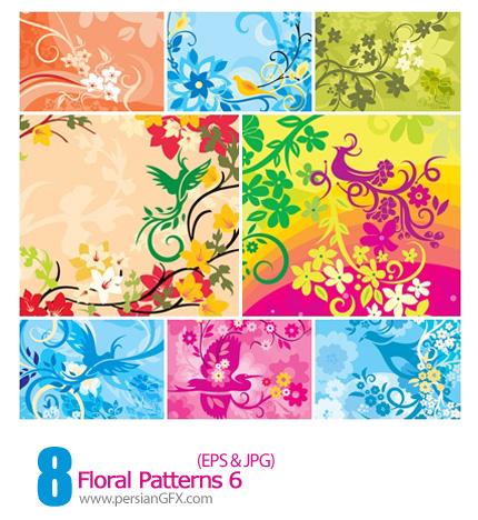 دانلود پترن های گل دار - Floral Patterns 06