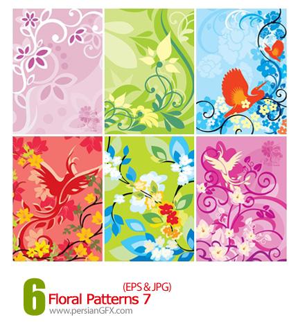 دانلود پترن های گل دار - Floral Patterns 07