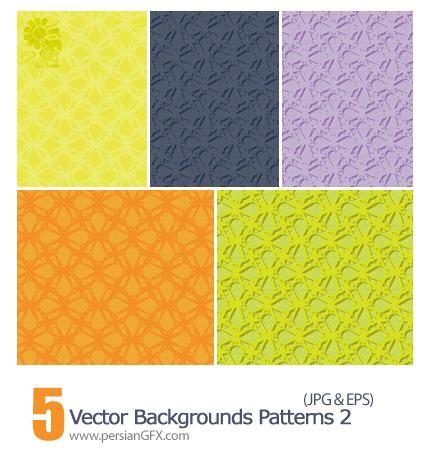 دانلود پترن های وکتور بک گراند - Vector Backgrounds Patterns 02