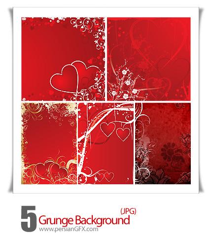 دانلود تصاویر بک گراند رمانتیک کثیف - Grunge Background