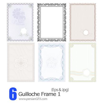 دانلود فریم وکتور تزیینی - Guilloche Frame