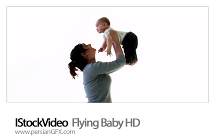 دانلود فایل آماده نوزاد - IStockVideo  Flying Baby HD